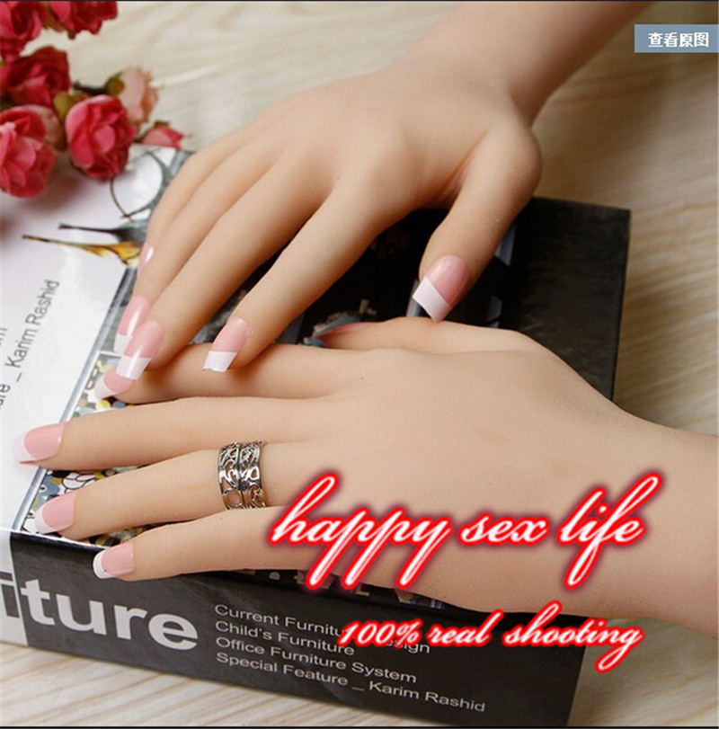 New arrival!one pair realistic silicone female mannequin Manikin hands for ring&jewelry display ,Model Nail Art Hand