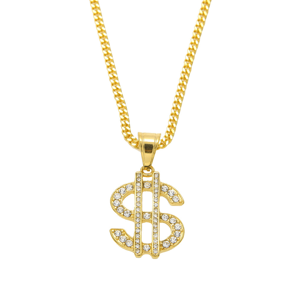 New Style Rhinestone Iced Out Golden American USD Dollars