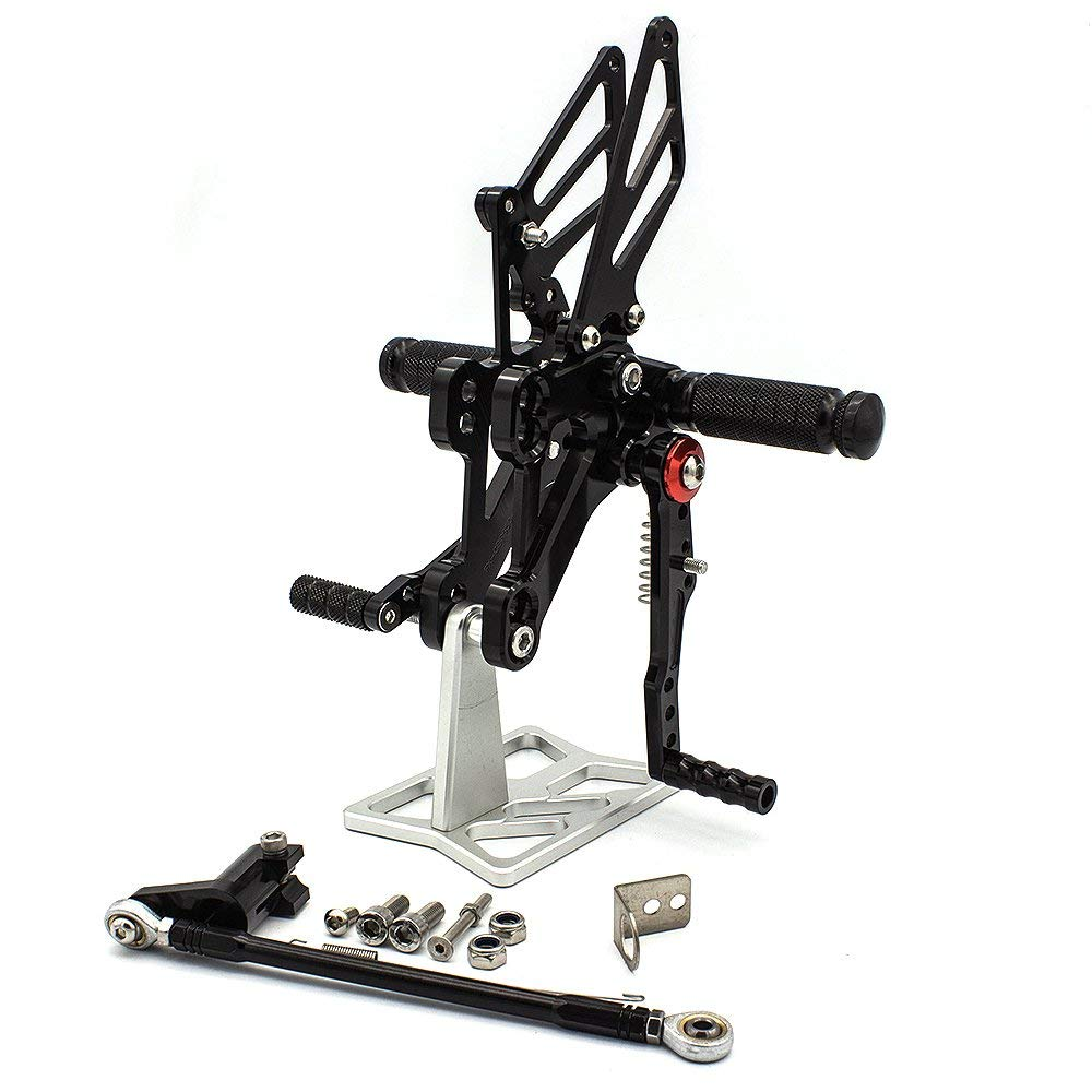 CNC Adjustable Rearsets Foot Rest Foot Pegs Foot Rests For Honda CBR650F CBR 650F 2014 2015 2016 2017 cnc adjustable rearsets foot rest foot pegs foot rests for honda cbr600rr abs 2009 2010 2011 2012 2013 2014 2015 cbr 600rr