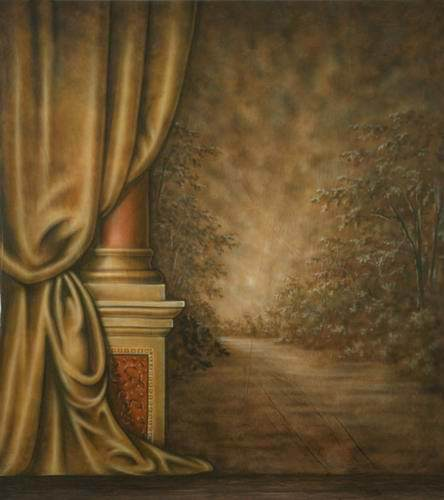Curtains Ideas curtain paintings : Aliexpress.com : Buy Retro Curtain Oil Painting Background Thin ...