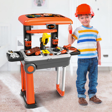 High Quality Children ABS Mini Trolley case Repair Tool Toys Set Workshop Playset Kids Parents Interactive Educational Gift