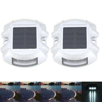 Podziemne lampy zasilany energią słoneczną ze stali nierdzewnej wpuszczone schody wodoodporna światła podłogowe LED na zewnątrz ogród dekoracja obejścia światła