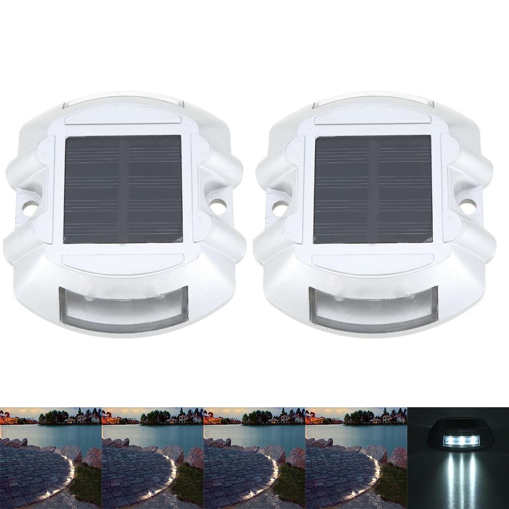 Außenbeleuchtung Vorsichtig 2 Pcs Led Solar Licht Im Freien Wasserdichte Beleuchtung Tragbare Wand Solar Lampe Für Garten Decor Hof Runde Solar Lampen