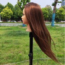 Hairdressing Mannequin Head With 60% Human Hair For Hairstyles Hairdressers Curling Practice Training Stand