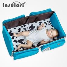 2019 Fashion Folding Baby Care Bed Multifunction Backpack For Moms Large Capacity Baby Diaper Bag Travel Nursing Stroller Bag