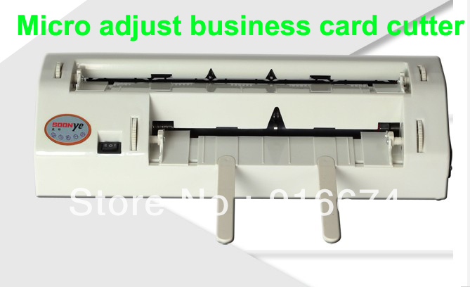 Fast Free shipping Micro Adjust A4 business card slitter automatic card cutter with A4 size Adjustable automatic electronic driven cut card cutter to cut pvc id business card punching machine with high speed