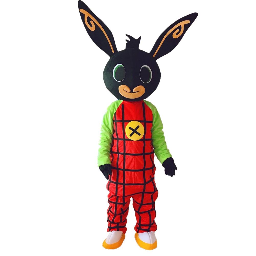 Bing Black Rabbit Mascot Costume Cosplay fancy Dress