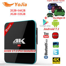 3G/32G S912 Q Plus Amlogic Android 7.1 TV BOX Octa Rdzeń Dual WiFi Q-PLUS Inteligentne Set Top Box Q Plus Media Player BT4.0 4 K H.265