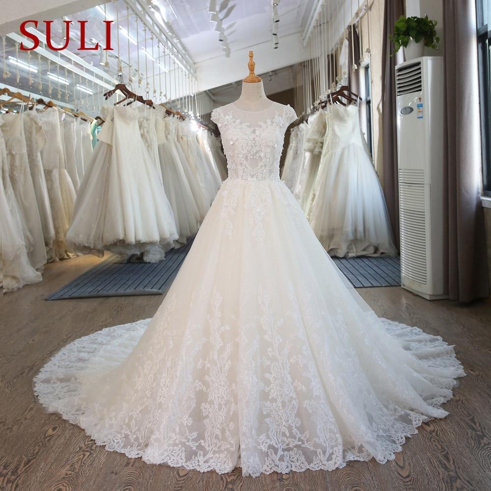 SL-101 fűző csipke esküvői ruha Vintage hercegnő esküvői ruhák