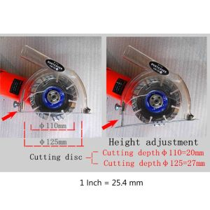 """Image 5 - Clear Cutting Dust Shroud Grinding Cover For Angle Grinder & 3""""/4""""/5"""" Saw Blades WF4458037"""