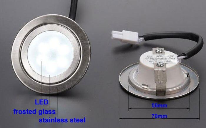 Image 2 - DC 12V 1,5 W Матовый кухонный Вытяжной светильник LED 55 мм отверстие молочный чехол дымоотводящий вентилятор лампа 20W галогенная лампа эквивалентСветодиодные лампы и трубки    АлиЭкспресс
