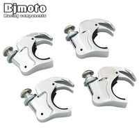 4pcs Detachable Quick Release 39mm Windshield Clamps For Harley Dyna Rocker Sportster