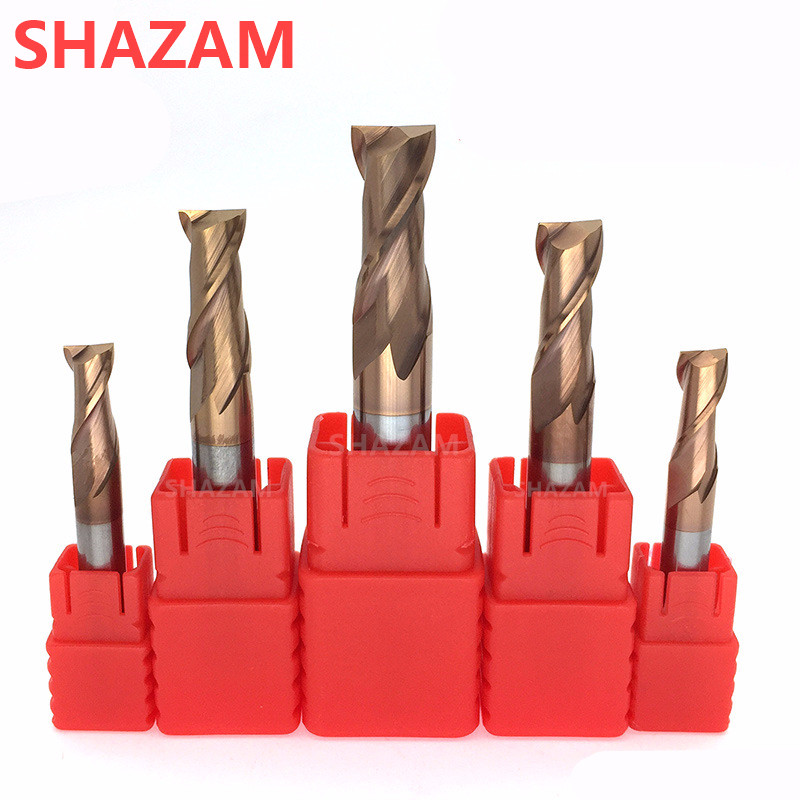 Milling Cutter HRC55 Alloy Coating Tungsten Steel Tool 2 Blade Endmills Wholesale Top Hardness Milling Machine Cutters For Metal