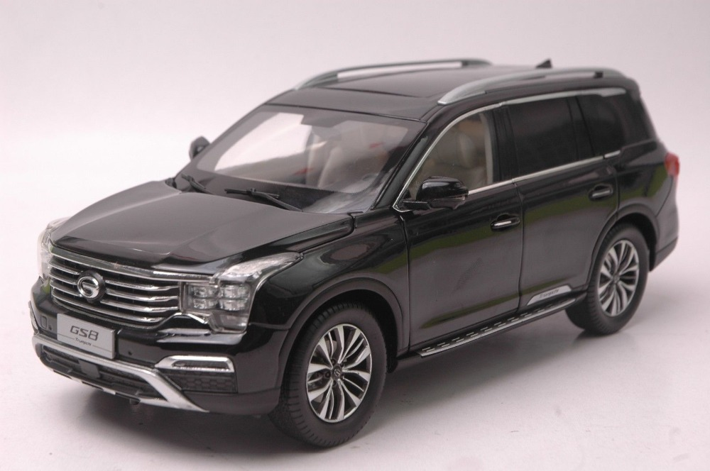 1:18 Diecast Model for China GAC Trumpchi GS8 Black SUV Alloy Toy Car Collection Gifts зимняя шина nokian hakkapeliitta 8 suv 265 50 r20 111t