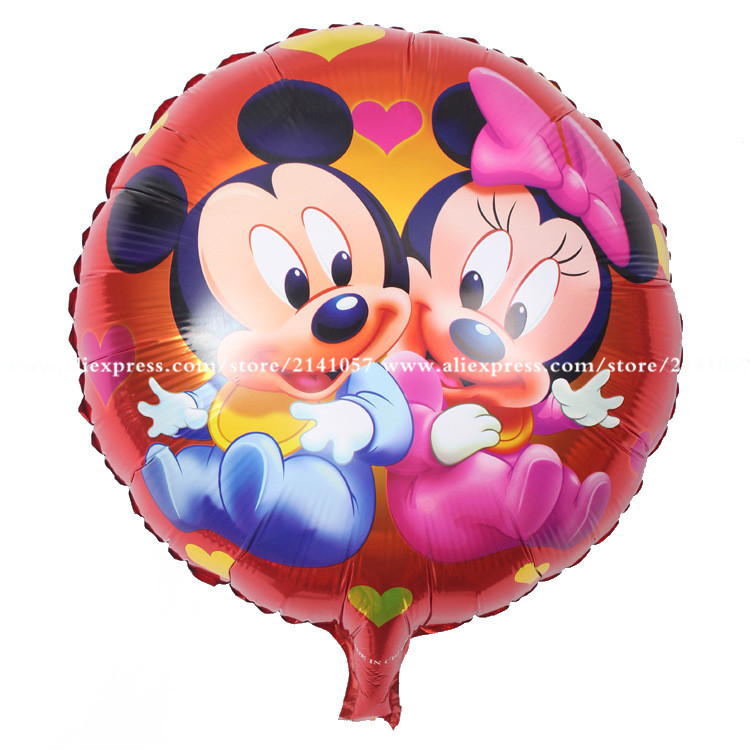 30pcs mickey minnie mouse head aluminum balloon Birthday Party wedding decoration helium Ballon hot Kids Gift baby Toy globo
