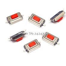 100 sztuk wysokiej jakości 3*6*2.5mm 3*6*2.5H 3x6x2.5mm SMD czerwony przycisk przełącznik mikroprzełącznik przełączniki taktowe