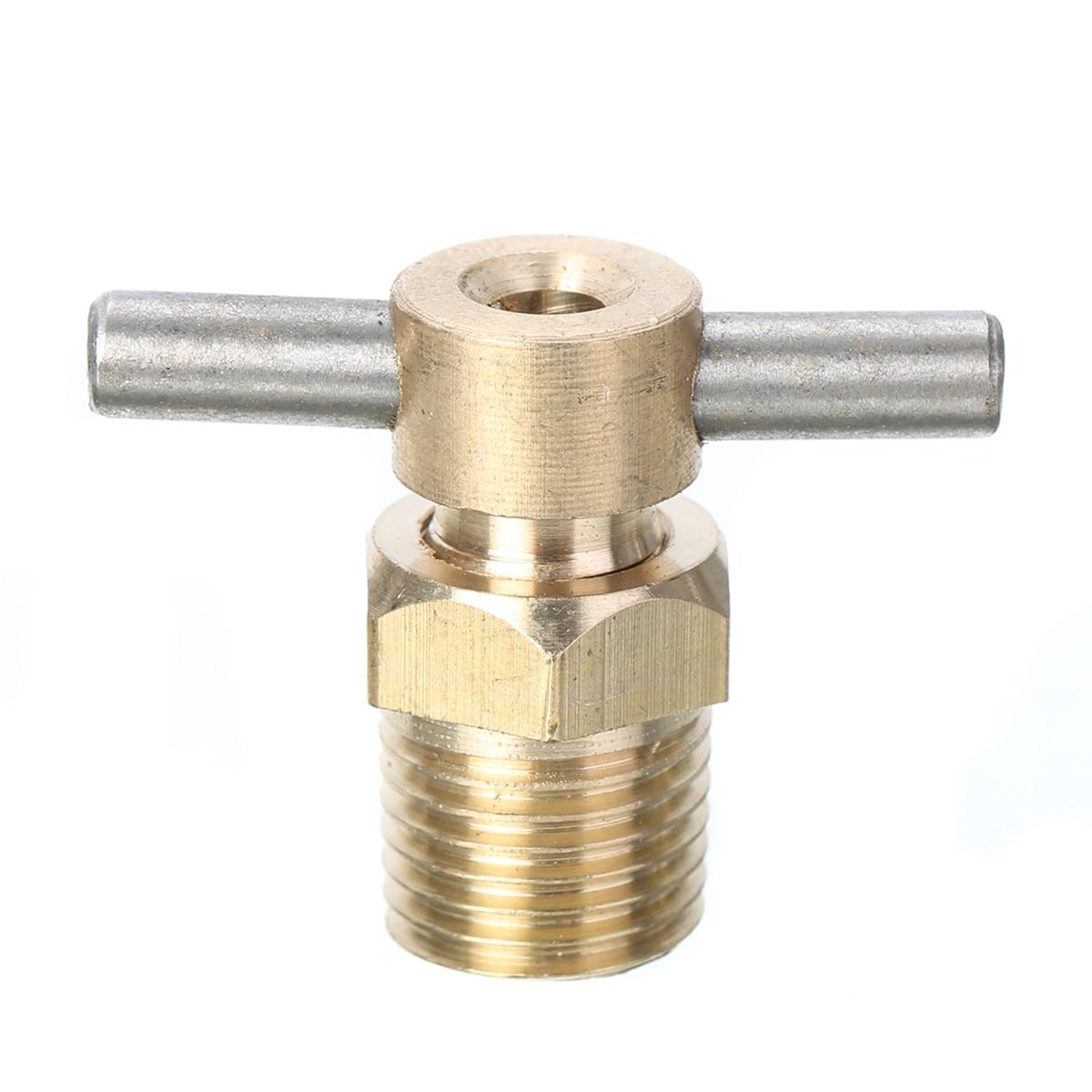 1 Stück Messing Ablassventil 12mm Durchmesser Standby-ventil 1/4 Zoll Npt Für Kompressor Tank Teile Sanitär
