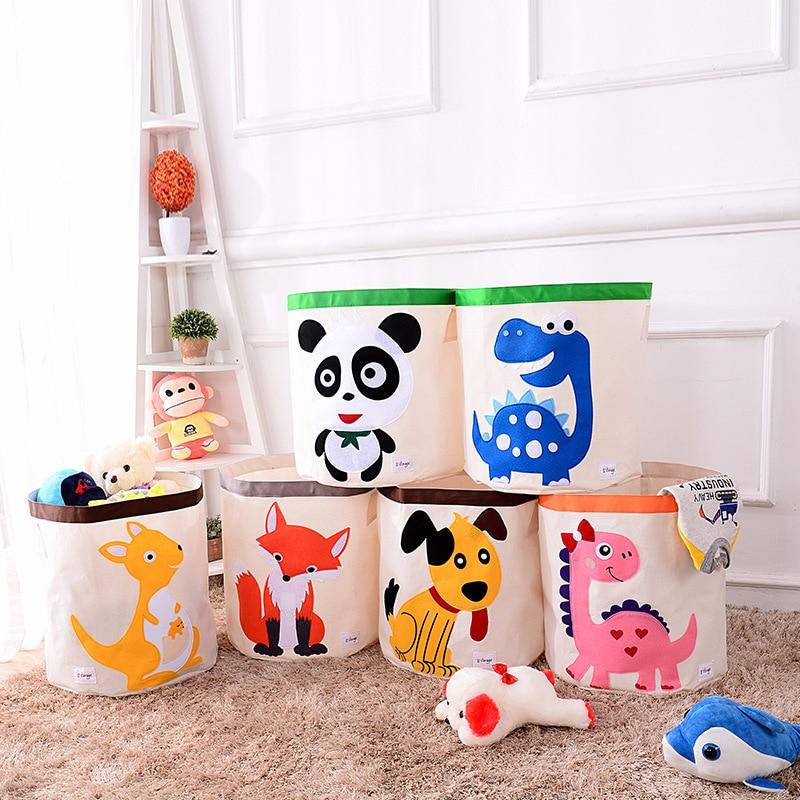 Toys Organizer Storage-Basket Clothing Folding Kids Children Cartoon