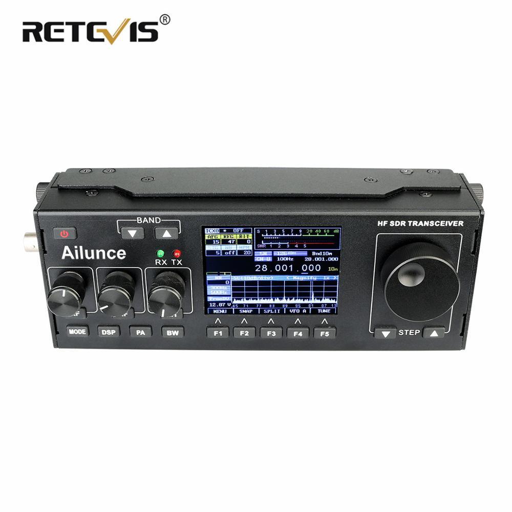 Rechapé Ailunce HS1 HF SDR émetteur-récepteur SSB émetteur-récepteur jambon Radio HF émetteur-récepteur QRP 15W 0.5-30MHz SSB Radio CW AM FM HF bande