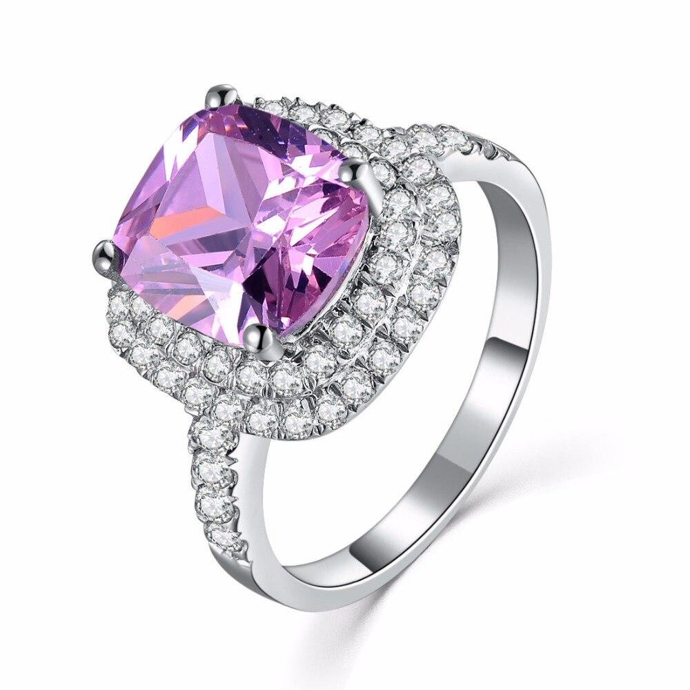 1ct Pure 585 Gold Pink Cushion Shape Prolonged Lovely Diamond Women Engagement  Ring Best Lovely Diamond