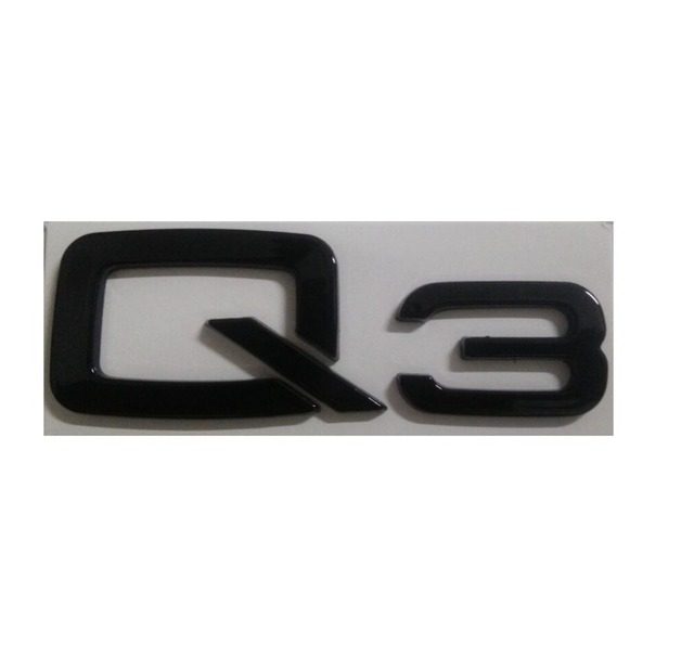 Gloss Black Q ABS Trunk Rear Number Letters Words Badge Emblem - Audi emblem
