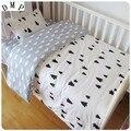 Акция! 3 шт мультяшная милая детская кроватка  хлопковый комплект постельного белья для малышей (пододеяльник + простыня + наволочка)