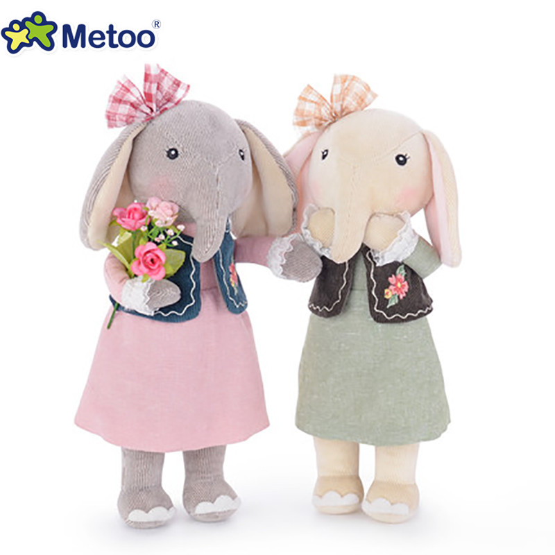 Offcia Metoo Elephant Dolls Plush Stuffed Animal Toys Best Gifts for Kids Girls Accompany with Kids'Sleeping 1pcs 50cm stuffed dolls rubber duck hongkong big yellow duck plush toys hot sale best gift for kids girl
