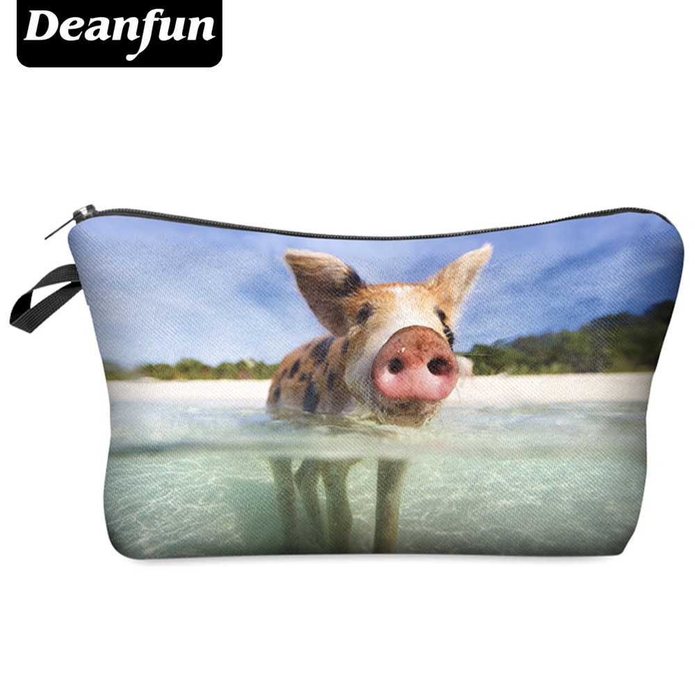 Deanfun Travel Cosmetic Bag  Hot-selling Women Brand Small Makeup Case 3D Printing  Christmas Gift Water Pig H46 deanfun travel cosmetic bag 2016 hot selling women brand small makeup case 3d printing christmas gift water pig h46