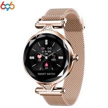 696H1 Смарт часы для женщин сердечного ритма приборы для измерения артериального давления фитнес трекер Smartwatch женский физиологический цикл