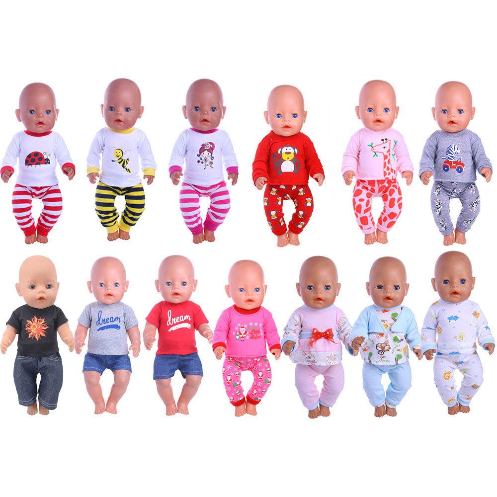 Luckydoll 13 PCS Doll Clothes Accessories Home Service Suitable For 43CM Baby Doll Toy Children's Best Christmas Gift
