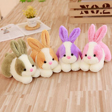 Lovely Simulation Little Rabbit Short Plush Toy Stuffed Animal Plush Doll Christmas Gift For Children Kids stuffed toys lovely simulation animal doll plush sleeping dogs toy with sound kids toy decorations birthday gift for children