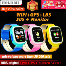 Q90 GPS 아이 Smart Watch 폰 Position Children Watch 1.22 inch 색 Touch Screen WIFI SOS Smart Baby Watch Q50 q80 q60 Watch(China)