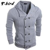 T Bird Hoodie Men Cardigan Button Hoodie Hip Hop Male Sweatshirt 2017 Fashion Men Autumn Winter