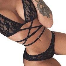 Высококачественное эротическое белье, женское сексуальное кружевное нижнее белье больших размеров, Соблазнительные костюмы с тремя точками, сексуальное нижнее белье