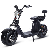 Electric Motorcycle 1500W 60V Citycoco Double Lithium Battery Fashion  Car Simple Operation Electric Bicycle     -