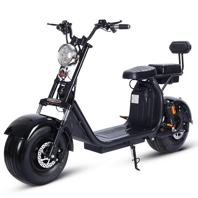 Moto électrique 1500 W 60 V Citycoco Double batterie au Lithium mode voiture opération Simple