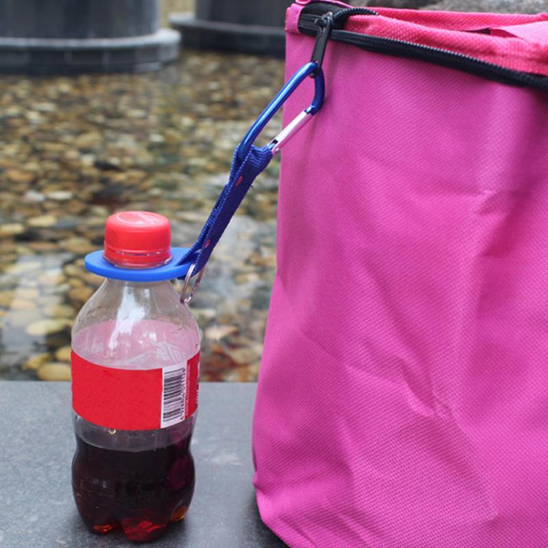 Silicone Buckle Hook Water Bottle Holder Clip Climb Carabiner Belt Backpack Hanger Camp/Key Ring Multifunction Outdoor
