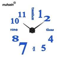 2019 new arrival quartz diy modern clocks needle acrylic watches big wall clock mirror sticker living
