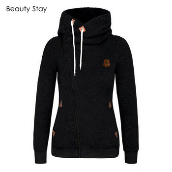 Autumn Winter Female Warm Hooded Sweatshirt