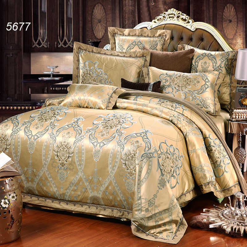 Golden Camel Silk Bedding Set 4pcs Wedding Bed Cover Silk