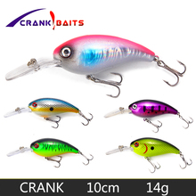 CRANK BAITS Fishing Lure Artificial Hard Crank Bait Bass Wobblers 10cm 14g Japan Swimbait 0.5-1.5m Fish Lures YB195