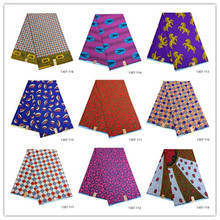 100% Polyester african wax for wedding dress latest design print fabric 6yards tissu high quality 1307-111