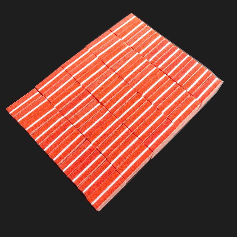 500 pièces couleur aléatoire mini tampon à ongles bloc éponge bloc jetable lime à ongles 100/180 mini tampon à ongles lime bloc de ponçage des ongles