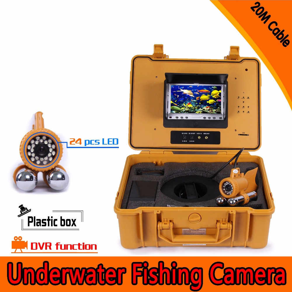(1 set) 20M 7 Inch TFT-LCD Color Display HD Underwater Fishing Camera CMOS lens with DVR Function Fish finder double pendant(1 set) 20M 7 Inch TFT-LCD Color Display HD Underwater Fishing Camera CMOS lens with DVR Function Fish finder double pendant