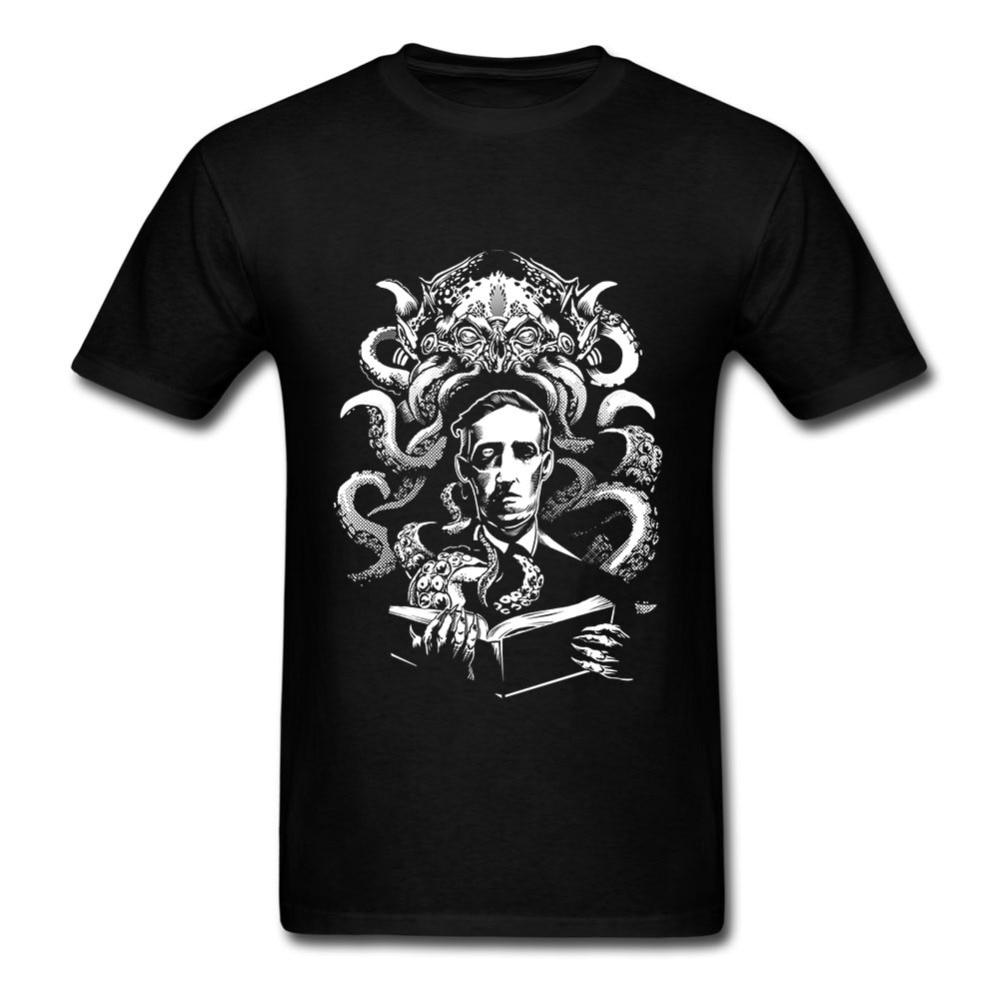 Summer T Shirt Men Short Sleeve Love Cthulhu Tees Shirt Cotton Summer T-Shirts Adult Gift Camisetas Tops