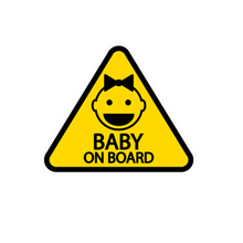Cute PVC Car Sticker Baby on Board Personalized Auto Detailing Wrap Pro