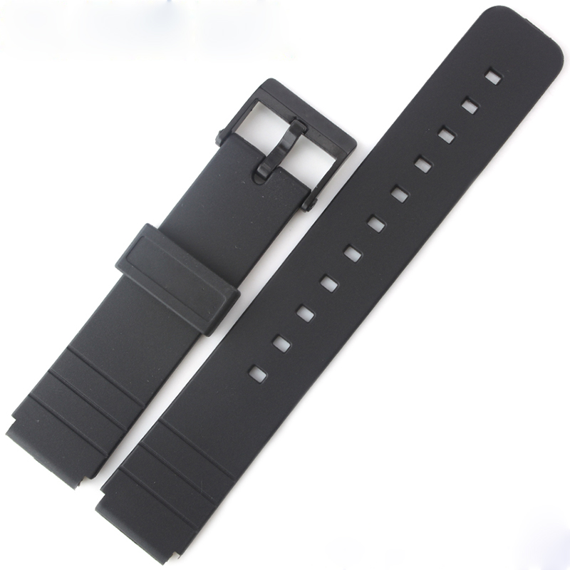 Watch Accessories Resin Strap For Casio MQ-24/58/59/76/98/104 Black Resin Tape casio watch online celebrity popular small black neutral quartz student watch mq 24 1b mq 24 1b2 mq 24 1e mq 24 7e mq 24 1b3