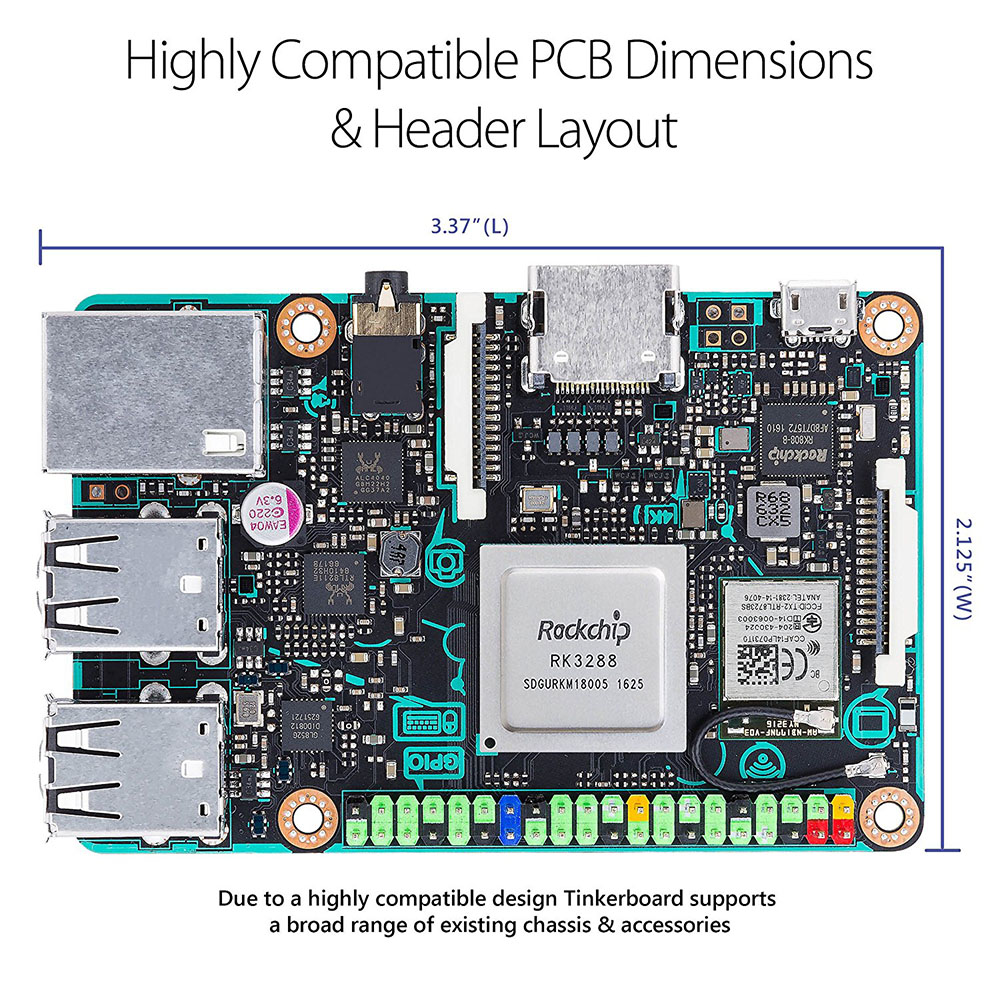 Image 3 - Плата ASUS SBC Tinker RK3288 SoC 1,8 GHz quad core cpu, 600MHz Mali T764 GPU, 2GB LPDDR3 Thinker board/tinkerboard с tf картой-in Доски для показов from Компьютер и офис on AliExpress - 11.11_Double 11_Singles' Day
