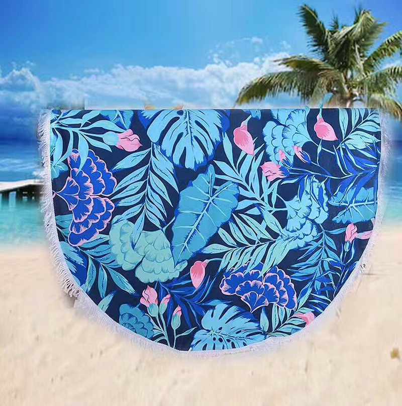 U-miss Beach Towels for Adults Tassel Printed Round Microfiber 2018 Beachtowel Sandy Travel ...