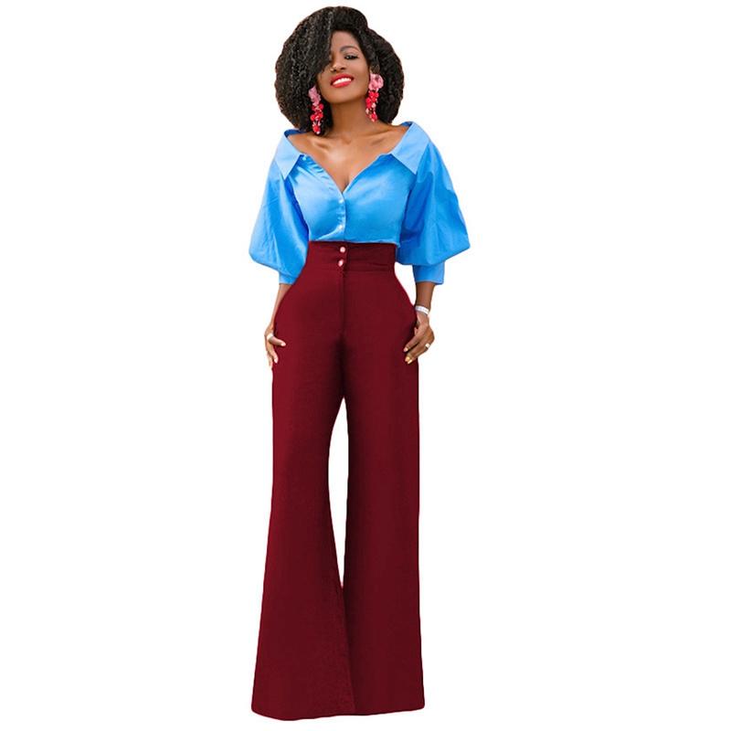 High Waist Wide Leg Pants Trousers Women Fashion Summer Loose Casual Office Pants Slacks for Women Palazzo Pants Flare Pants